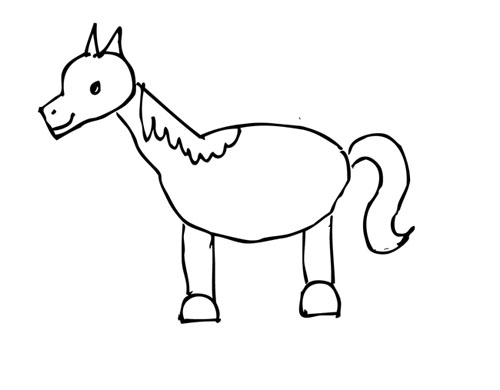 Horse-2D001-traced